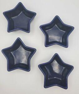 Chantal Stoneware 1 Cup Blue Star Shaped Baking Dish 93-ST12~ Set of 4