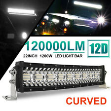 "1200W 22"" Led Work Light Bar Curved Combo Offroad Driving Atv Ute Suv 4WD 20 24"""