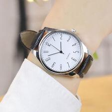 2018 Mens Simple Business Fashion Leather Quartz Wrist Watch Black