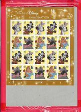 Scott #4342-45 Art of Disney Imagination postage Sheet of 20-42 cent stamps
