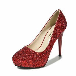 Women's 12Cm Stiletto Heel Pointy Shallow Mouth Sexy Sequin Work Dating Shoes