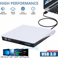 Slim External CD/DVD Drive USB 3.0 Player Burner Writer for Laptop PC Mac HP