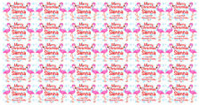 Flamingo Christmas Gift Wrapping Paper Personalised with any message