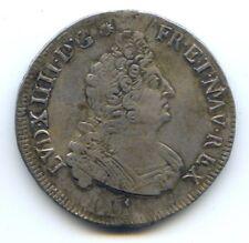 FRANCE LOUIS XIV (1643-1715) 1/2 ÉCU AUX INSIGNES 1702 & AIX EN PROVENCE
