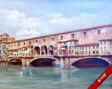 PONTE VECCHIO FLORENCE ITALY ITALIAN OIL PAINTING ART GICLEE REAL CANVAS PRINT