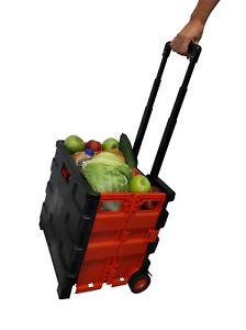 Faltbox Klappkiste mit Räder Einkaufstrolley Einkaufskorb Hackenporsche faltbar