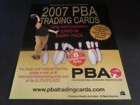 2007 PBA BOWLING TRADING CARD PROMOTIONAL  SELL SHEET RITTENHOUSE