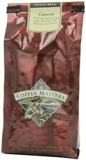 Coffee Masters Flavored Coffee, Cappuccino, Whole Bean, 12-Ounce Bags (Pack of 4