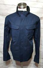 Men's Oakley Snap Zipper Jacket Coat Navy Blue Size L