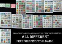 Great Postage Stamp Collection From United States. All Different, Free Shipping