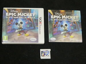 3DS : DISNEY EPIC MICKEY : IL POTERE DELLA MAGIA - Completo, ITA ! 2DS e New 3DS