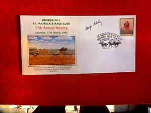 1982 BROKEN HILL ST.PATRICK'S RACE CLUB  COVER HAND SIGNED BY  HUGH SCHULZ