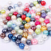Wholesale 50/100/200Pcs Round Mixed Glass Pearl Loose Spacer Bead Finding 4-12mm
