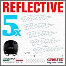 5x TDM White YAMAHA ADESIVI PEGATINA STICKERS AUTOCOLLANT Helmet Casco