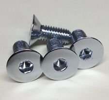 4 SBC BBC Water Pump Aluminum pulley Bolts Chrome Tapered 350 454 305 383 chevy