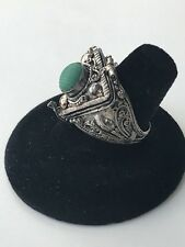 ANTIQUE VINTAGE STERLING SILVER  POISON PILL BOX LOCKET TRIANGLE RING