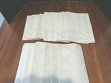 New never used Collection of 14 Large Antique napkins matching