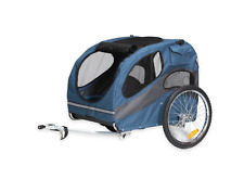 HoundAbout II Large Bicycle Pet Dog Trailer Carriage, Bike Accessories in Blue