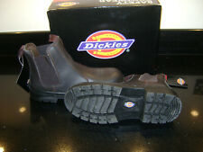Dickies Steel Toe-Cap Safety Dealer Boots - Brown Size 7 BNWT FA23345