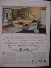 1925 Kroehler Living Room Furniture Couch Sofa Vintage Print Ad 11820