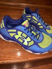Under Armour Girls 4y Running Sneakers Blue Green Cute Guc