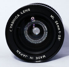 Genuine Vintage Yashica ML 24mm f/2.8 Lens C/Y Mount For Parts or Repairs