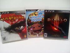 God of War III Little Big Planet Diablo 3 Game Lot Sony PlayStation PS3 Freeship