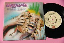 "MARILLION 7"" HE KNOWS YOU KNOW ORIG UK 1983 PROMO CON COPERTINA LAMINATA RARISSI"