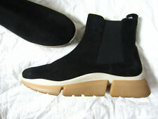 RUSSELL & BROMLEY Black Suede Chelsea Sneaker Ankle Boots  40/7