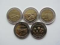 ✔ Argentina 1 peso set of 5 coins 2010 Bicentenario UNC WCC:km 156-160