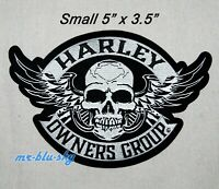 "5' x 3.5"" Small Winged Skull Patch ~ Harley Davidson Owners Group HOG H.O.G."