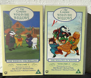 THE COMPLETE WIND IN THE WILLOWS - VOLUME 1 AND 2 - VHS VIDEO