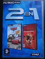 Disney Pixar LES INDESTRUCTIBLES + CARS Aventures : 2 JEUX en 1 PC / MAC CD-ROM