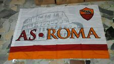 bandiera bianca ufficiale roma  football 100x150 cm oficial flag soccer football