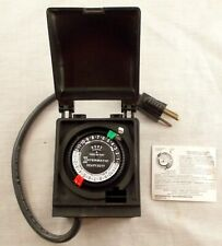 Intermatic HB35R Electric Outdoor Timer 10A Grounded Plug Conserves Energy