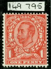 SG 343 1d aniline scarlet N11(5) Post Office perfect unmounted. Copy of Royal...
