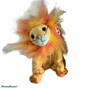 Ty Beanie Babies Bushy Lion 2000 Retired Vintage Plush Animal Toy Baby #04285