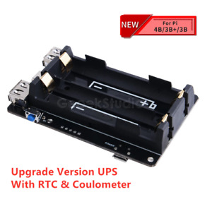 Raspberry Pi 4B UPS with RTC Uninterruptible Power Supply 18650 Battery Charger