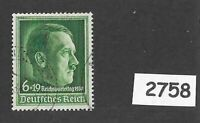 Cancelled stamp / Adolph Hitler / 1938 Party Congress / Third Reich Germany
