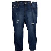 Torrid Premium Womans Skinny distressed dark wash Denim jeans Plus Size 20R