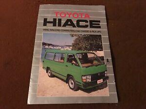 1984 TOYOTA H50 HIACE VAN  BROCHURE Cab Chassis