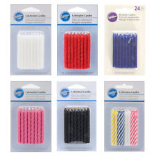 Wilton 24 Pack Coloured Birthday Candles for Celebration Cake Party Decorations