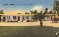 Duwel Motel Dunedin, Florida Highway Hwy 580 Vintage Linen Advertising Postcard