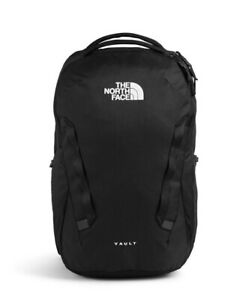 NWT The North Face Vault TNF Black Backpack Laptop Sleeve Logo $59