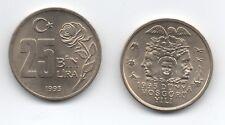 TURKEY 25000 LIRA 1995 FAO WORLD TOLERANCE YEAR KM 1043 UNC