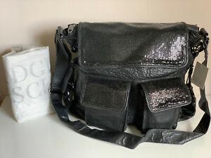NEW! BADGLEY MISCHKA STEPHANIE BLACK CROSSBODY SLING MESSENGER BAG PURSE $495
