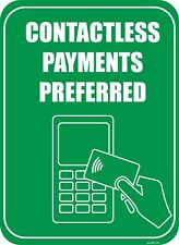 """Contactless Payments Preferred sign 8.5""""X 11"""""""