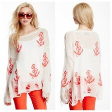 Wildfox Couture Shipwrecked Lennon Sweater ~ Clean White/Red ~ Small NWT $297
