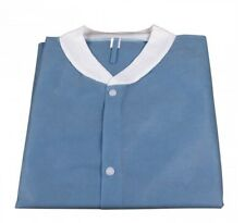 Medical Dental Disposable Lab Coat Gown Blue, 10pcs/bag