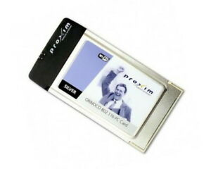 Proxim Orinoco Silver 802.11b Client PC Card PCMCIA Wireless LAN +Install CD-ROM